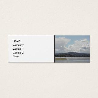 Kite Surfers. Nice scenic view. Mini Business Card