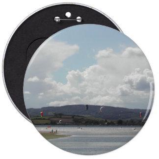 Kite Surfers. Nice scenic view. Pinback Button