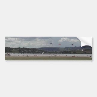 Kite Surfers. Scenic view. Bumper Sticker