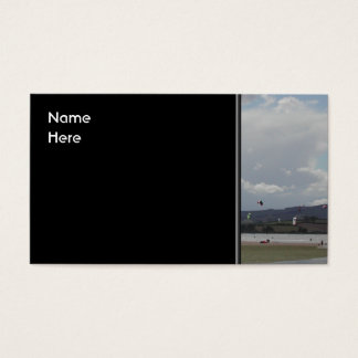 Kite Surfers. Scenic view. Business Card