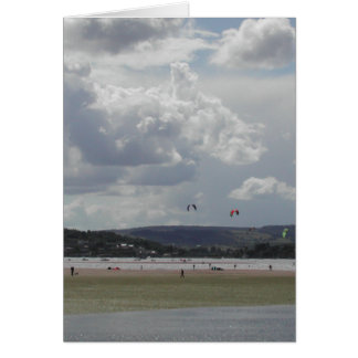 Kite Surfers. Scenic view. Card