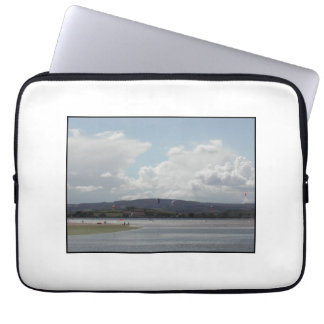 Kite Surfers. Scenic view. Computer Sleeves