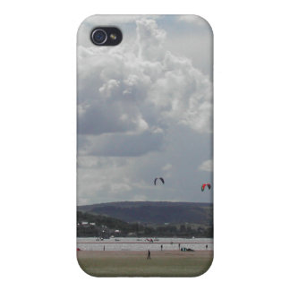 Kite Surfers Scenic view Cover For iPhone 4