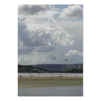 Kite Surfers. Scenic view. Large Business Card