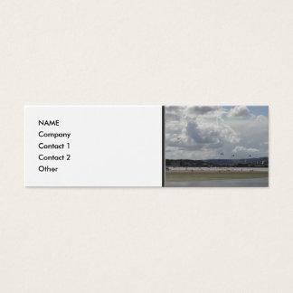 Kite Surfers. Scenic view. Mini Business Card