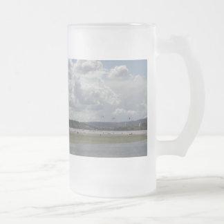 Kite Surfers. Scenic view. Mug