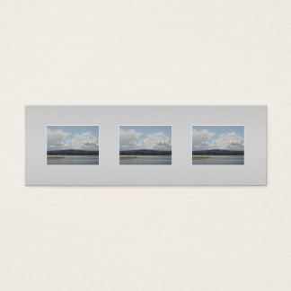 Kite Surfers. Scenic view. On Gray. Mini Business Card
