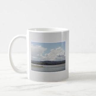 Kite Surfers. Scenic view. On Gray. Coffee Mugs