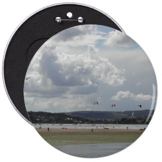 Kite Surfers. Scenic view. Pinback Buttons
