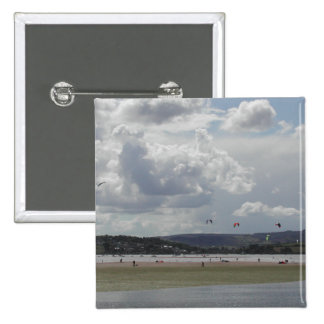 Kite Surfers. Scenic view. Pins