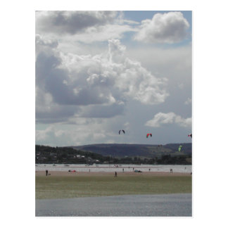 Kite Surfers. Scenic view. Postcard