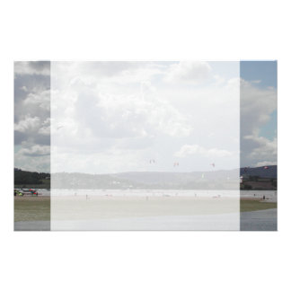Kite Surfers. Scenic view. Stationery
