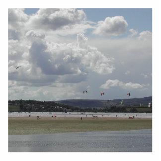 Kite Surfers. Scenic view. Statuette