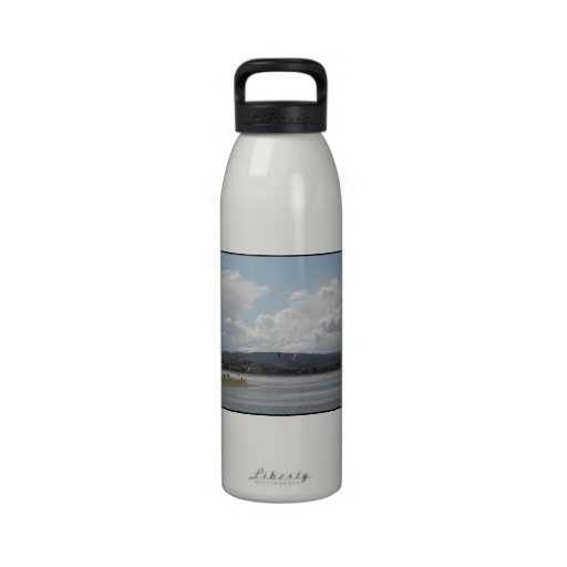 Kite Surfers. Scenic view. Water Bottle