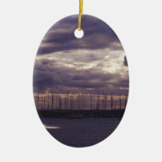 Kite Surfing at St Kilda Beach Ceramic Ornament