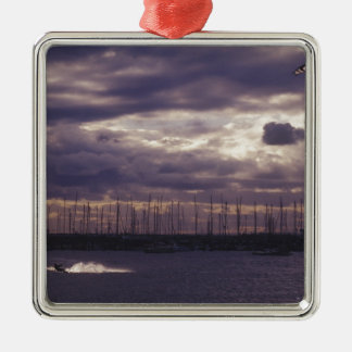 Kite Surfing at St Kilda Beach Metal Ornament