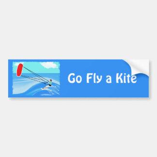 Kite Surfing Bumper Sticker