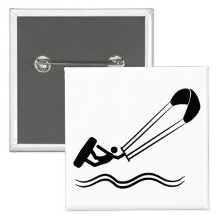 Kite Surfing Pinback Button