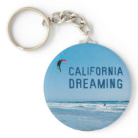 Kite Surfing California Dreaming Keychain