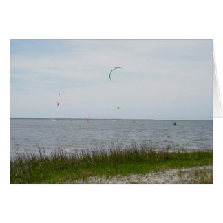 Kite Surfing Canadian Hole OBX NC Stationery Note Card