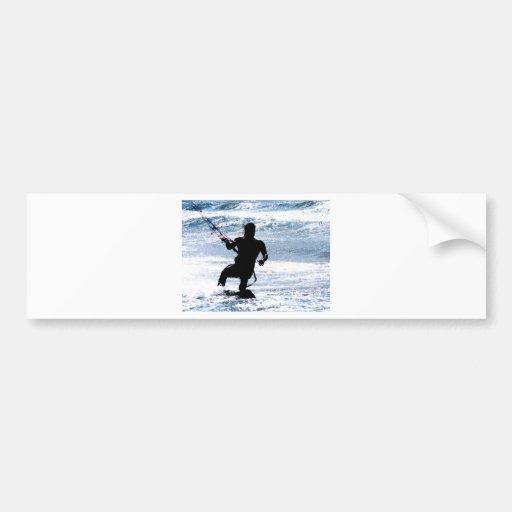 Kite Surfing Car Bumper Sticker