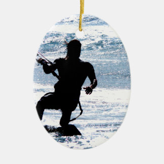 Kite Surfing Ceramic Ornament