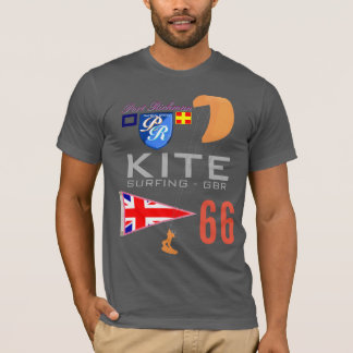 Kite Surfing GBR Great Britain Flag T-Shirt