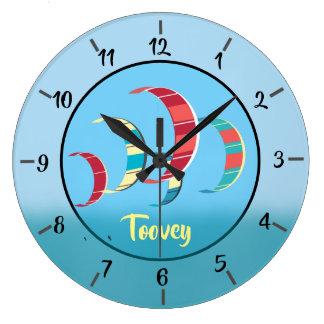 Kite Surfing Large Clock
