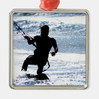 Kite Surfing Metal Ornament