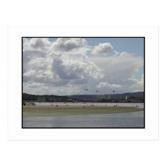 Kite Surfing. Postcard