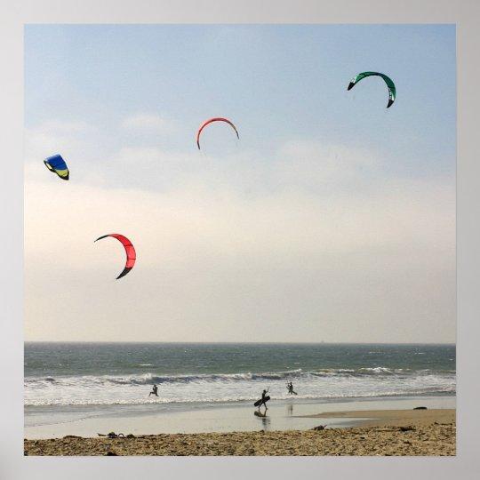 Kite Surfing Poster