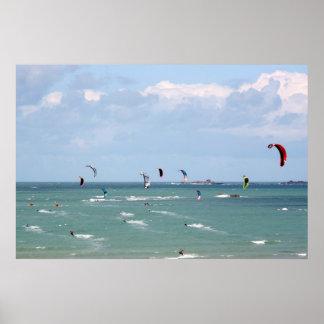 Kite Surfing Race Poster