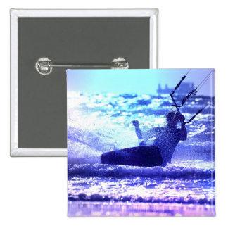 Kite Surfing Square Pin