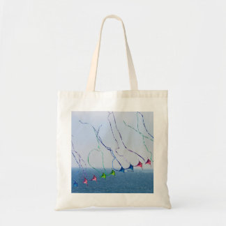 Kite Tails Tote Budget Tote Bag