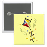 Kite Tshirts and Gifts 2 Inch Square Button
