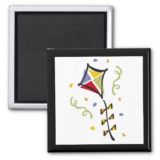 Kite Tshirts and Gifts 2 Inch Square Magnet