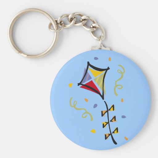 Kite Tshirts and Gifts Basic Round Button Keychain
