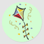 Kite Tshirts and Gifts Classic Round Sticker