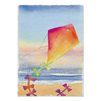 kite wall art poster