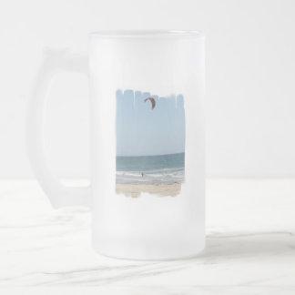 Kiteboard Beach Frosted Beer Mug