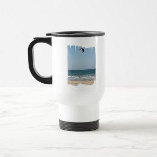 Kiteboard Beach Plastic Travel Mug
