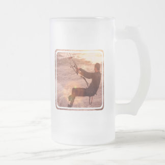 Kiteboard Frosted Beer Mug