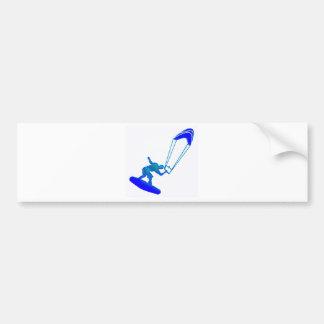 Kiteboard in Blue Bumper Sticker