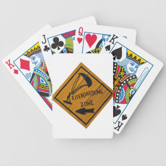 Kiteboard Sign Bicycle Playing Cards
