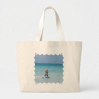 Kiteboarder in Tropics Canvas Bag