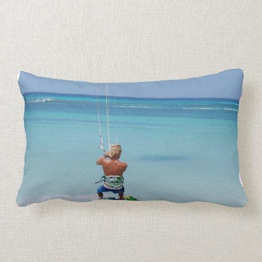 Kiteboarder in Tropics Pillows