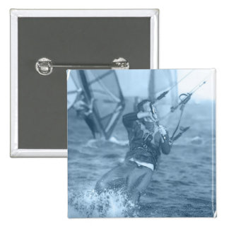 Kiteboarders with Windsurfers Pin