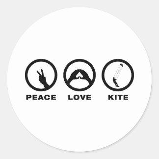 Kiteboarding Classic Round Sticker