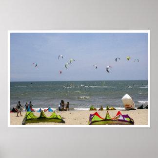 Kiteboarding en Bucerias Nayarit México Posters