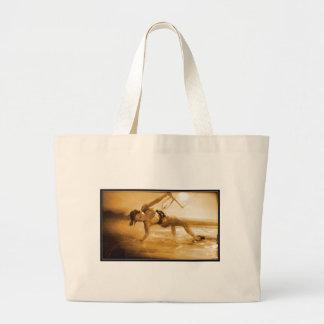 Kiteboarding Girl Tote Bag